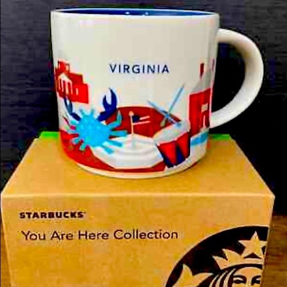NIB Starbucks Virginia You are Here Mug